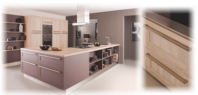 Cuisinella joue avec le bois dans la cuisine - Meuble cuisine cuisinella ...